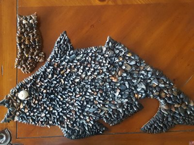 Made from collection of sharks teeth