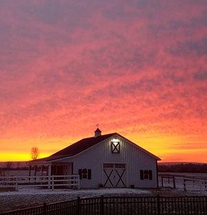 Winter morning sunrise
