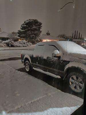 Recent snow in the desert