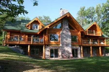 My new log home..am so proud of the guys..and girls of course