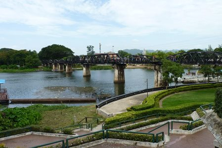 The real Bridge on the River Kwai