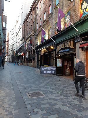 Matthew Street home of the Cavern of Beatles fame