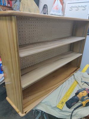 Making some shelving for the spouse