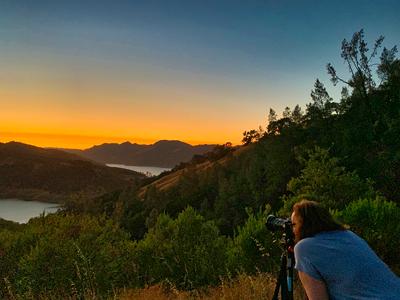 Photographer Sunset Lake
