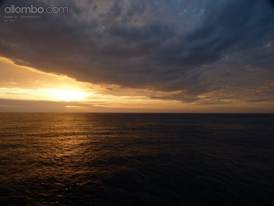 Stormy Sunset at Sea
