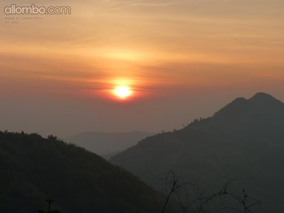 Sunset in the Thai mountains